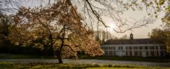 """In the 17th century, """"Huize Genbroek"""" (House of Genbroek) was built as a farm around a courtyard, but two centuries later converted to a stately mansion. Around the mansion is a park called """"Landgoed Genbroek"""" (Genbroek estate), which is a nice area for walking and leisure. (2017)"""