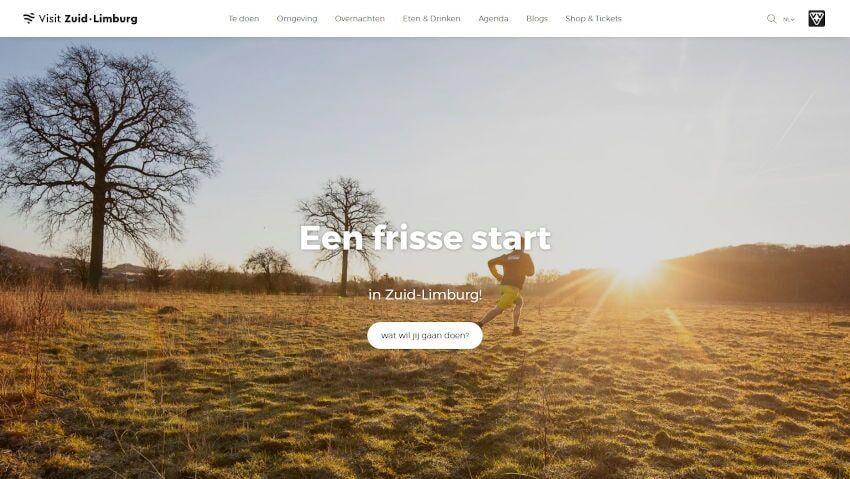 Screenshot Visit Zuid Limburg